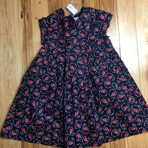 Jacadi NWT Navy Blue Floral Dress 8